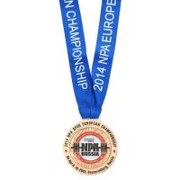 Bronze Honor Custom Award Medals Gold Plating Antique 3D With Ribbon 2mm-4mm