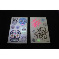 China Newest product Skeleton glow fluorescent gold tattoos, UV tattoos on sale
