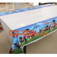 Lovely 108cm disposable Birthday tablecloth Cartoon Winnie the pooh kids happy birthday party plastic tablecover supplie Manufactures