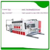 China High Speed Corrugated Die Cutter , Two Color Flexo Printing Machine on sale
