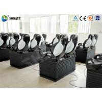 Black Luxury Seats 7D Movie Theater Genuine Leather Fiberglass Interactive Games Manufactures