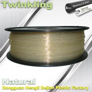 ±0.03 Tolerance Roundness 3d Printing Filament 1.75 3.0mm Transparent Color Manufactures