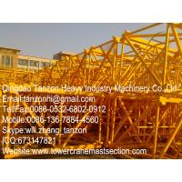 flat head tower crane structural steel mast section / steel plate mast section Manufactures