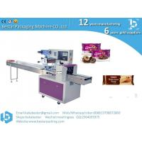 Pillow Type Horizontal Biscuit Packing Machine Cookies Chocolate Bar Pillow Package Machine Manufactures