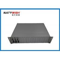16 Slots 19 Fiber Media Converter , Card Module Type Industrial Grade Media Converter Manufactures