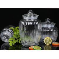 China 1350ml Capacity Glass Jam Jar With Lid / Durable Glass Jar For Spicy Beans on sale