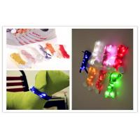 Celebration Halloween Decorative Multi Color LED Light Shoelaces / Belt With Logo Printing Manufactures