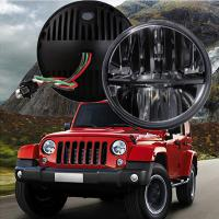 """60W 7"""" Fog Jeep LED Headlights With Hi / Lo H4 Or H13 For Wrangler JK Manufactures"""