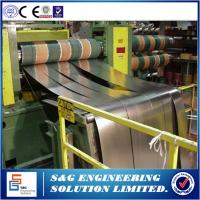 One Slitter Steel Plate Cutting Machine , Low Operating Costs Metal Sheet Slitting Machine Manufactures