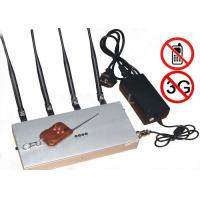 China 3G Cell Phone Disruptor Jammer / Blocking Device With Remote Control on sale