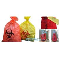 Draw string Biohazard garbage/trash bag for infecciosas/hospital use, biohazardous waste bag, bagplastics, bagease, pac Manufactures