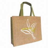 Promotional jute bag, environment-friendly and recyclable Manufactures