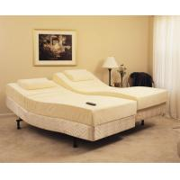 China Brown synthetic leather adjustable platform bed king size leather frame on sale