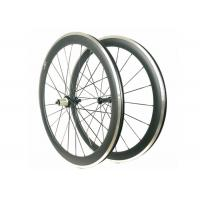 China Carbon Alloy Clincher Wheelset , R36 Hub Carbon Wheels With Alloy Braking Surface on sale