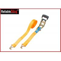 Breaking Strength 50mm 5T Heavy Duty Ratchet Tie Down Strap With One PVC blue label Manufactures