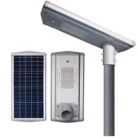 All - In - One IP65 Integrated Solar Street Light Poly PV Module 6600lm - 7200lm Manufactures