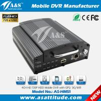 4CH AHD 720P Hard Disk 3G Mobile DVR for School Bus Manufactures