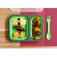 Leak Proof Silicone Lunch Containers , Reusable Bento Lunch Boxes Non - Toxic Manufactures
