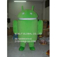 green Android system mascot costume/customized fur product replicated mascot costume Manufactures