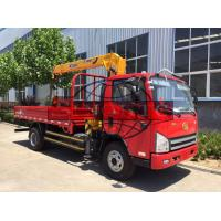 China 4 X 2 8 Tons / 3 Ton Truck Mounted Crane , 143kw Power Truck Loader Crane on sale