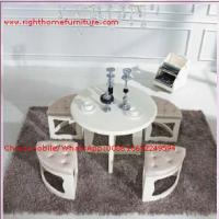 White painting Circular Leisure time tea table and upholstery stool Manufactures