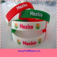 China no minimum free shipping custom world cup silicon wristbands on sale