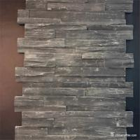 Black Slate Stone Wall Rockface Cladding , Slate Cultured Stone Wall Panels Manufactures