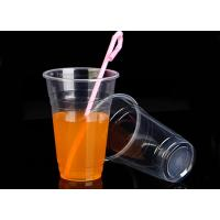 550ml 135mm Height clear Disposable Smoothie Cups Eco Friendly For Milky Tea Manufactures