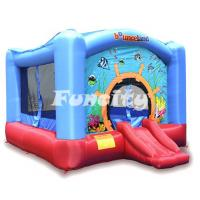Fire Retardant PVC Tarpaulin Inflatable Jumping Castle For Underwater World Manufactures