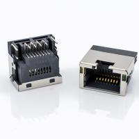 Female RJ45 Modular Jack , Offset Jack Shielded Mini RJ45 Connector For Panel Mount Manufactures