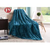 China Luxury Embossed Flannel Plush Sherpa Blanket Double Layers Throw For Sofa Modern European style on sale