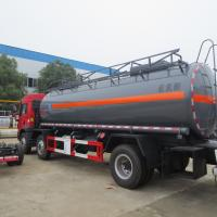 Red FAW 15000L 8×4 Hydrochloric Acid Tanker Truck Diesel Fuel Type Manual Transmission Manufactures