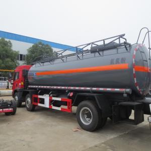 Red FAW 15000L 8×4 Hydrochloric Acid Tanker Truck Diesel Fuel Type Manual Transmission