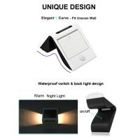 20 LED Outdoor Solar Power Security Wall Light for Patio / Deck / Garage Manufactures