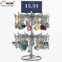 China Turnable Keychain Counter Display Racks / Retail Hanging Display Racks 2-layer on sale