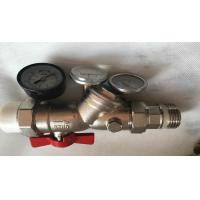 Floor Heating Manifold Brass Full Bore Ball Valve -20℃-100℃ Working Temperature Manufactures