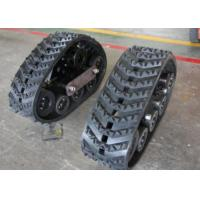 320mm Width Crawler Rubber Track Systems For Tractors Front Wheels ISO9001 Certification Manufactures