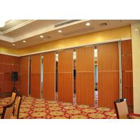 Melamine Carpet Finish Folding Glass Partitions For Meeting Room for sale