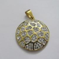 Cheap Wholesale Jewelry 316L Stainless Steel Crystal Pendants Manufactures