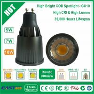 10W GU10 COB Spotlight (High Bright) - Warm White Manufactures
