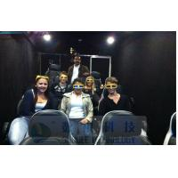 Mobile 6D Movie Theater Simulator With Audio / Broadcast System And Polarized Glasses Manufactures