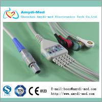 Quality Biosys one piece series 5 leads ecg cable and leadwires,button type for sale