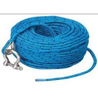 Blue polypropylene auto tow rope automatic tow rope towing car rope with shackle Manufactures