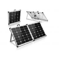 Black Portable Suitcase Solar Panels Heavy Duty Aluminum Frame And Leg Manufactures