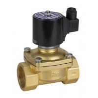 China Small Brass Gas Valve Solenoid Gas Safety Valve Simple Structure Low Voltage on sale