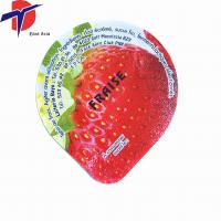 HOT Sale! aluminum foil lid plastic yogurt cup lid colored aluminum foil for plastic yogurt Manufactures