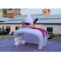 China Custom inflatable ice cream kiosk stand both tent with LED light cover for Advertising Activities on sale