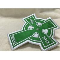 China Beautiful Oval Custom Clothing Patches Embroidered Sew On Badges Eco - Friendly on sale