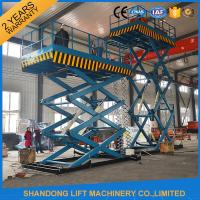 China 2T 7m Portable Stationary Hydraulic Scissor Lift Table High Strength Manganese Steel on sale