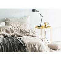 Linen Cotton Dyed Plain Bedding Sets , 4Pcs Comforter Bedding Sets For Home Manufactures